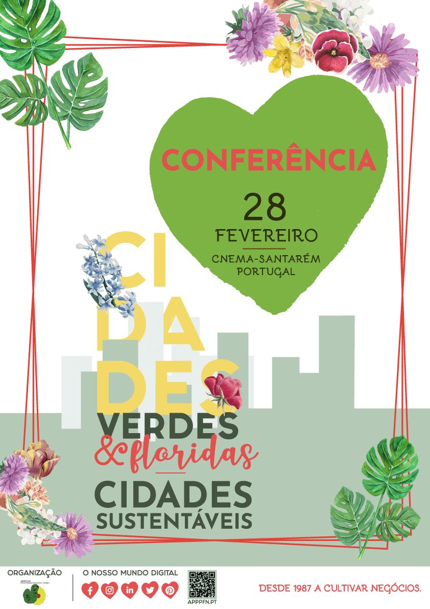 """Conferência """"Cidades Verdes e Floridas - Cidades Sustentáveis"""" na Lusoflora 2020"""